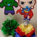 Imágenes de Centros de mesa de superheroes bebés