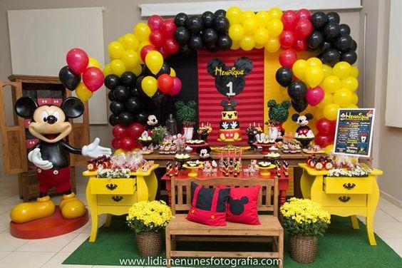 Piñata De Mickey Mouse Decoración Y Organización