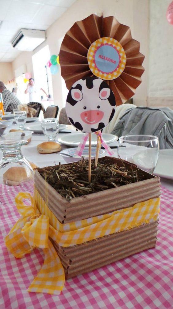 centros de mesa para fiesta granja zenon