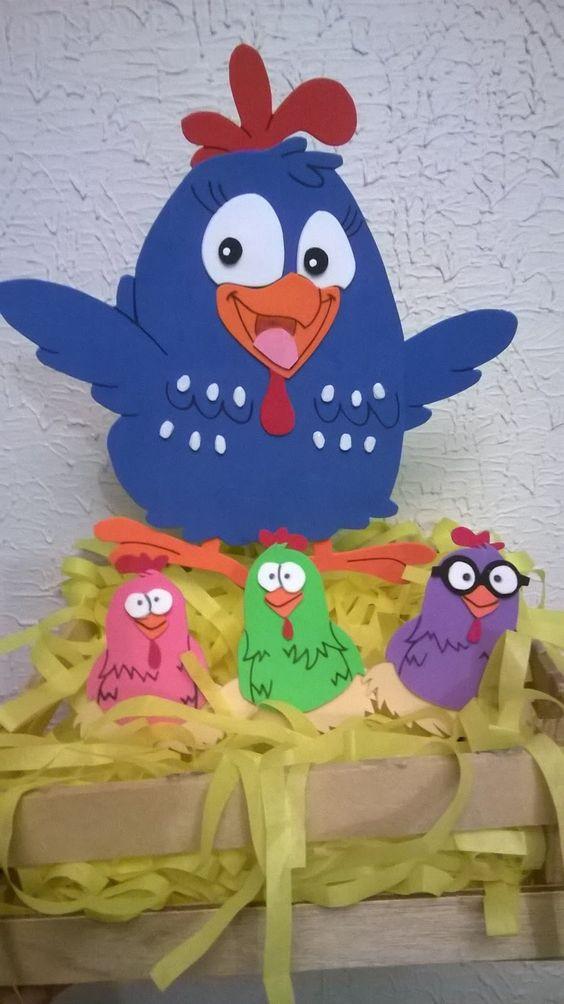 b38f82dbf Figuras en foami o goma eva de la gallina pintadita