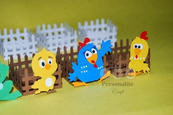 figuras gallina pintadita o goma eva