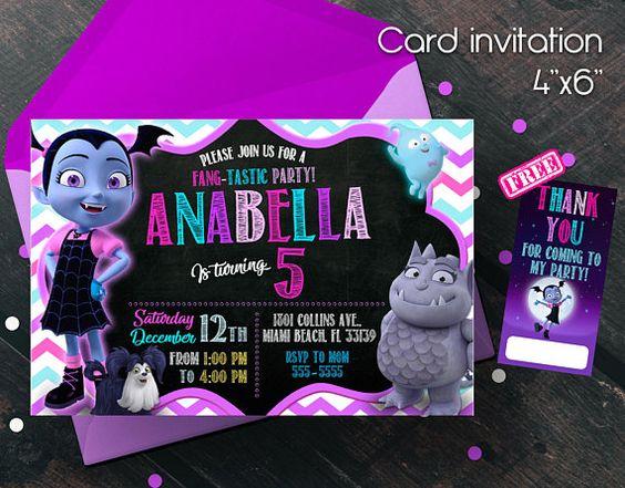 invitacion para fiesta de vampirina