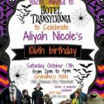invitaciones para fiesta tematica de hotel transilvania