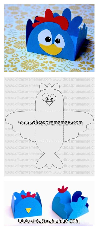 moldes para figura de gallina pintadita de fomy