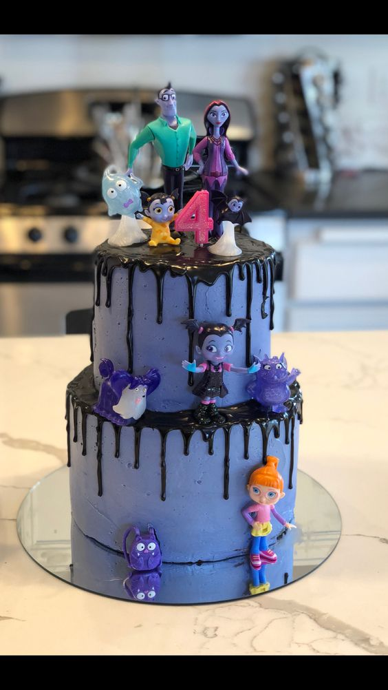 pastel para fiesta de vampirina