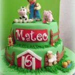 pastel para fiesta granja de zenon