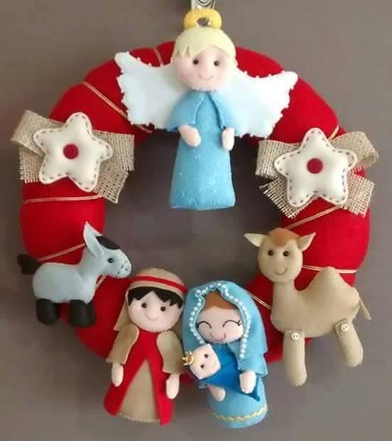 Moldes de muñecos navideños en paño lency para imprimir