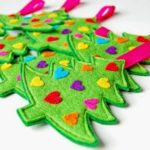 adornos navideños en fieltro