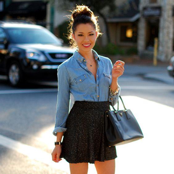 blusas negras para mujer
