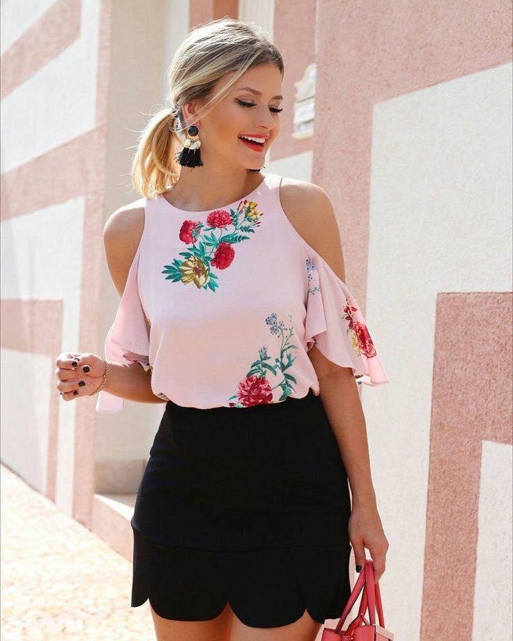 vista previa de venta outlet brillante en brillo Blusas para dama   Estampadas, sin hombros, para gorditas y ...