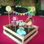 centro mesa masha y el oso
