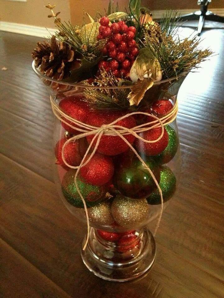 centros de mesa navideños faciles de hacer