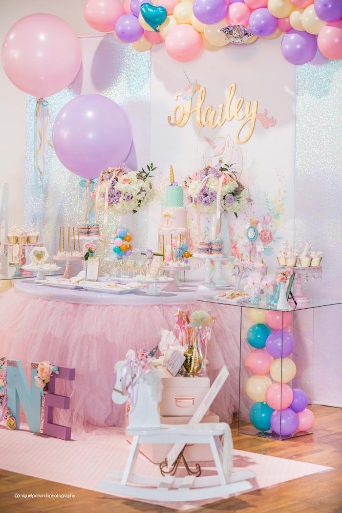 Decoracion de fiestas de unicornio