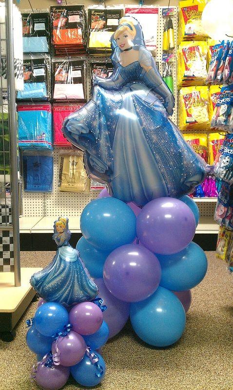 Decoración globo para Fiesta Temática de Cenicienta