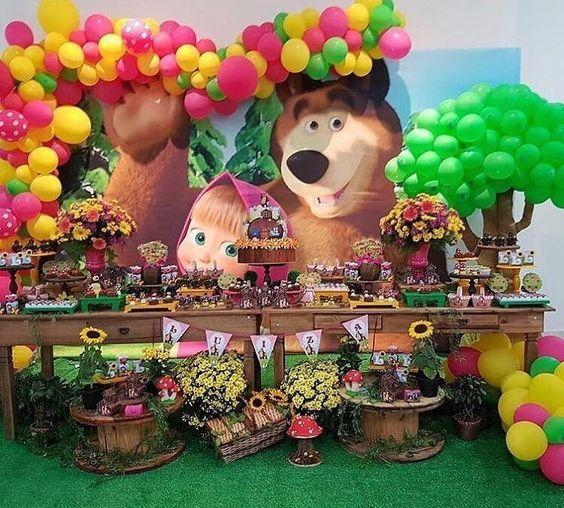 fiesta de masha y oso