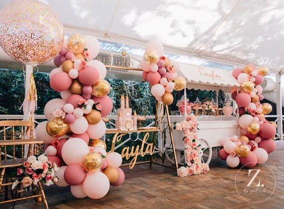 Ultimas tendencias en decoración de fiestas de 15 años 2018
