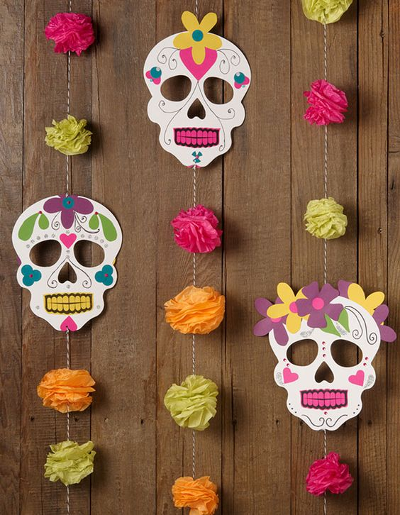 Decoración fiestas día de muertos
