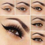 imagenes de como delinear los ojos