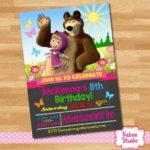 invitacion masha y el oso