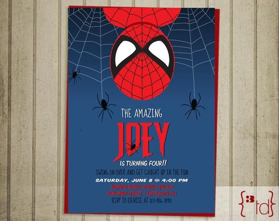 invitaciones spiderman