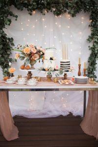 mesa de dulces sencilla