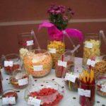 mesa de postres salados