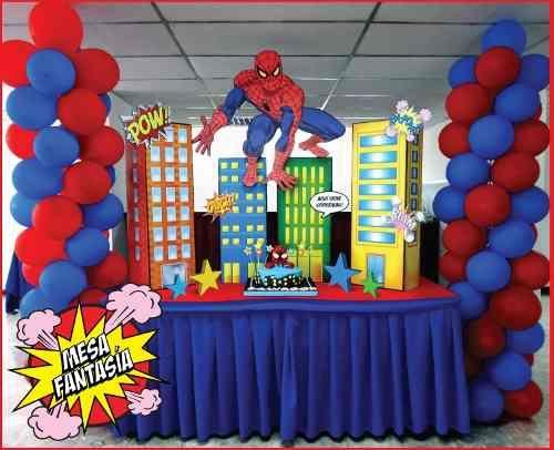 Mesa Principal De Spiderman Ideas Bonitas Para