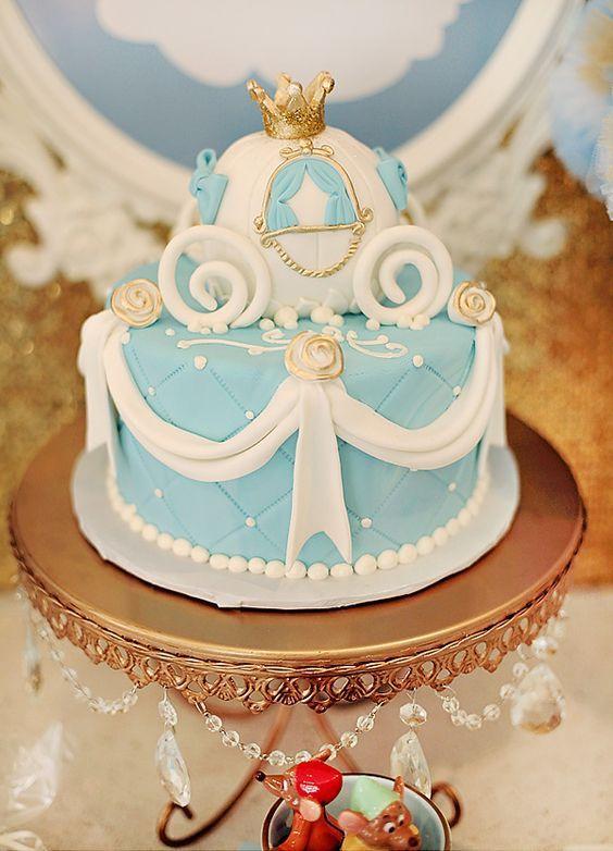 Pastel cumpleaños de cenicienta
