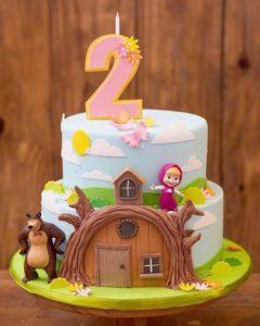 pastel masha y el oso