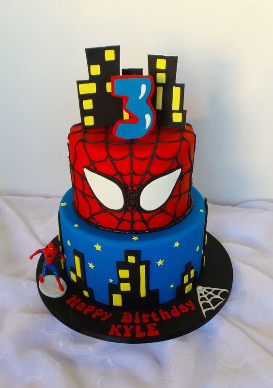 pasteles de spiderman , Ideas Bonitas Para