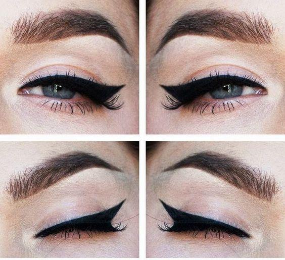 tipos de delineado de ojos modernos