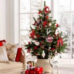 arboles de navidad modernos rojos