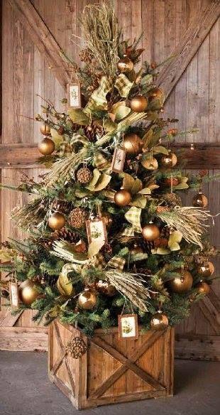 Árboles de navidad color cobre
