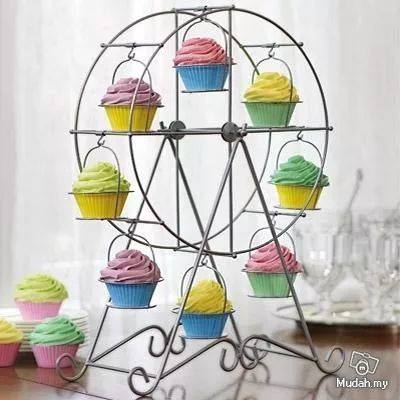 bases para cupcakes de metal