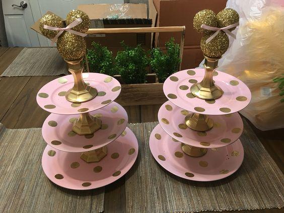 bases para cupcakes decoradas con brillos