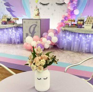 centros de mesa de unicornios para xv años