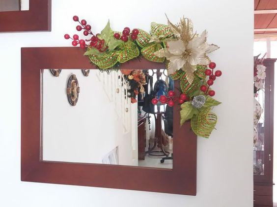 como decorar guirnaldas navideñas con malla