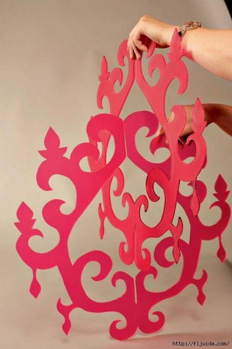 como hacer candelabros de carton