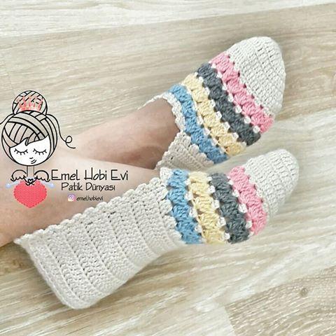 Como hacer pantuflas modernas crochet o tejidas