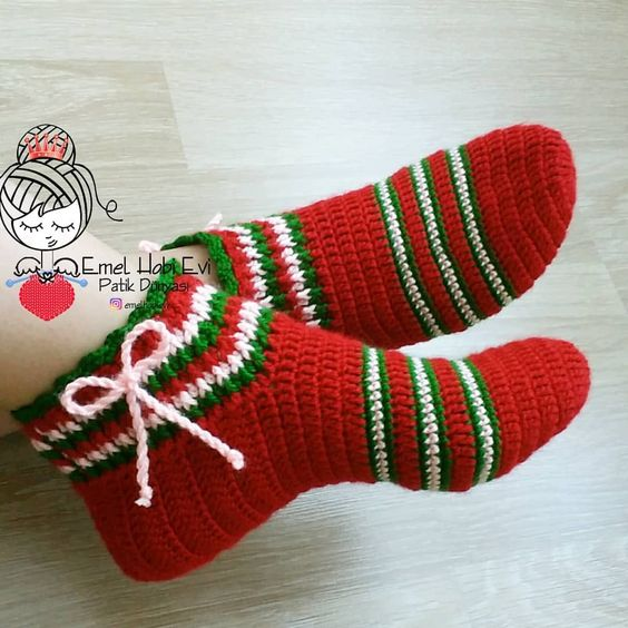 como hacer pantunflas tejidas crochet