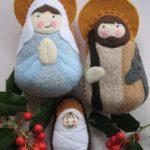 Nacimiento navideño de fieltro