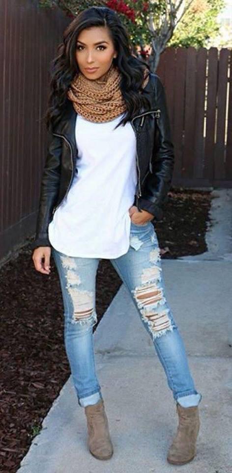 como usar botines con jeans