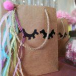 dulceros de unicornio con bolsas de papel