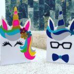 dulceros de unicornio con bolsas de papel faciles