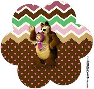 etiquetas de masha y el oso para imprimir