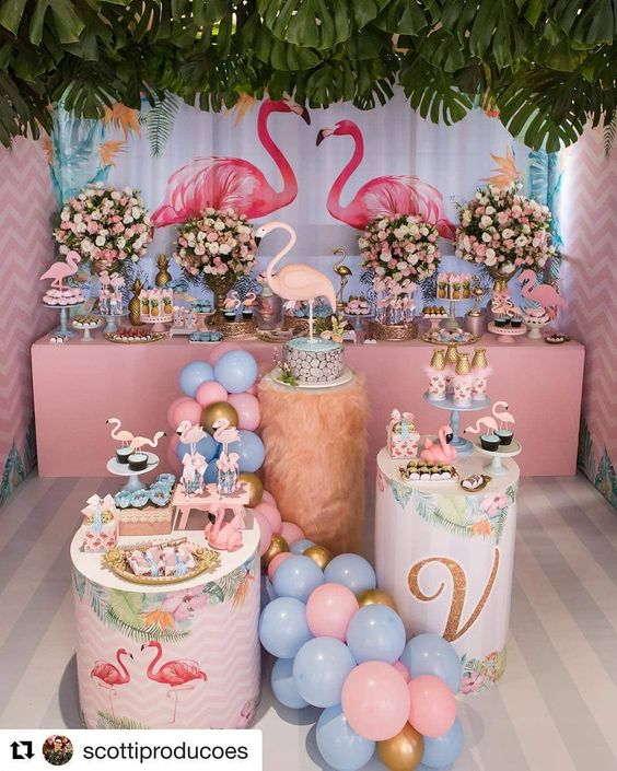 ideas para fiesta de flamingos