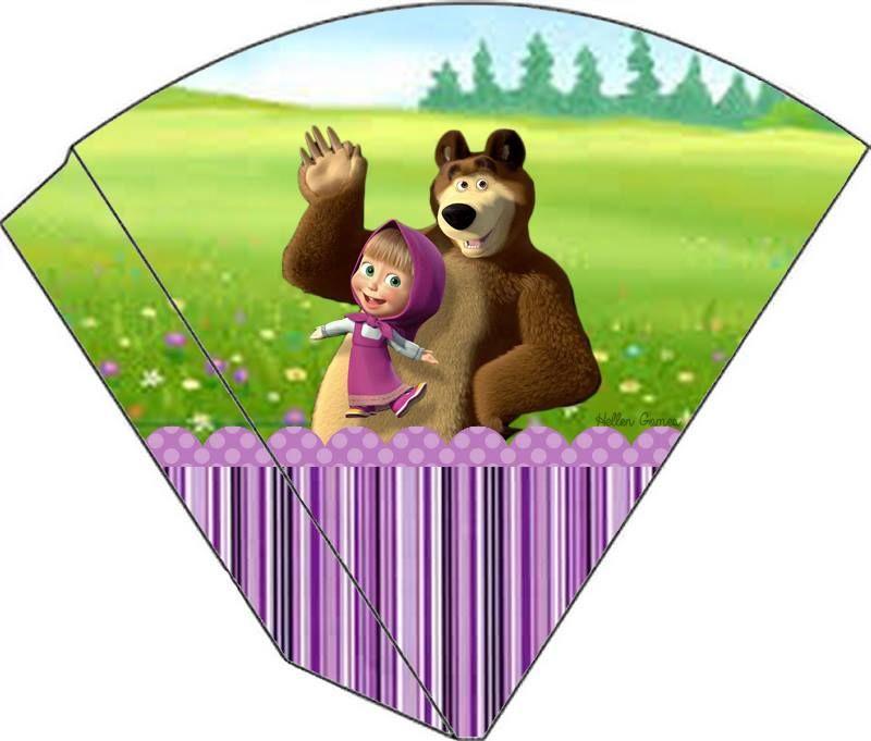 imprimibles para fiesta masha y el oso