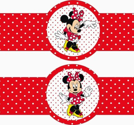kit para imprimir gratis de Minnie mouse