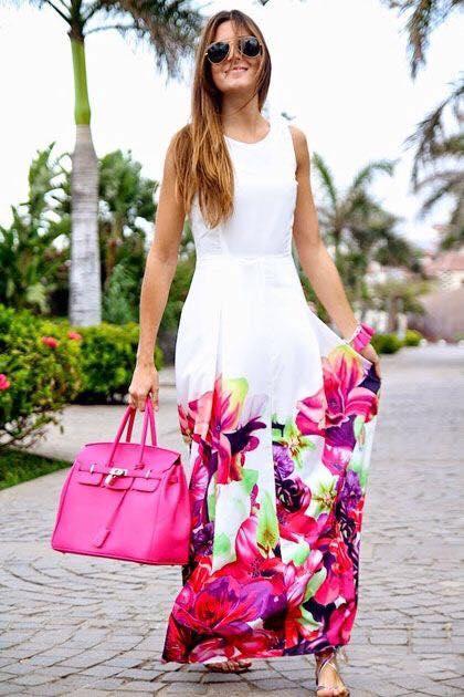 looks con vestidos estampados
