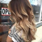 mechas color beige